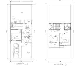 desain rumah minimalis: denah rumah 2 lantai minimalis