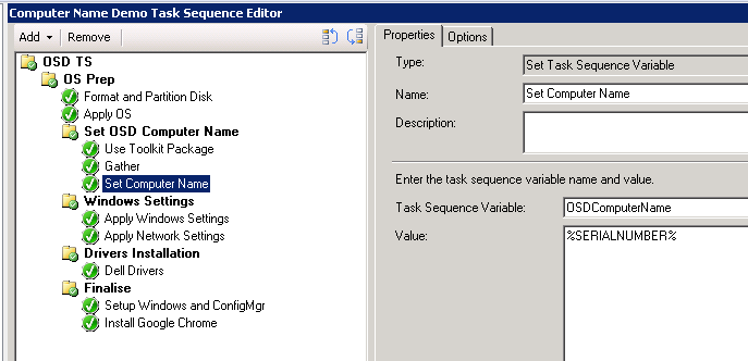 SCCM - Setting Computer Name automatically during OSD