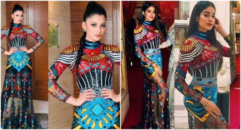 janhvi kapoor just copy urvashi rautela's look