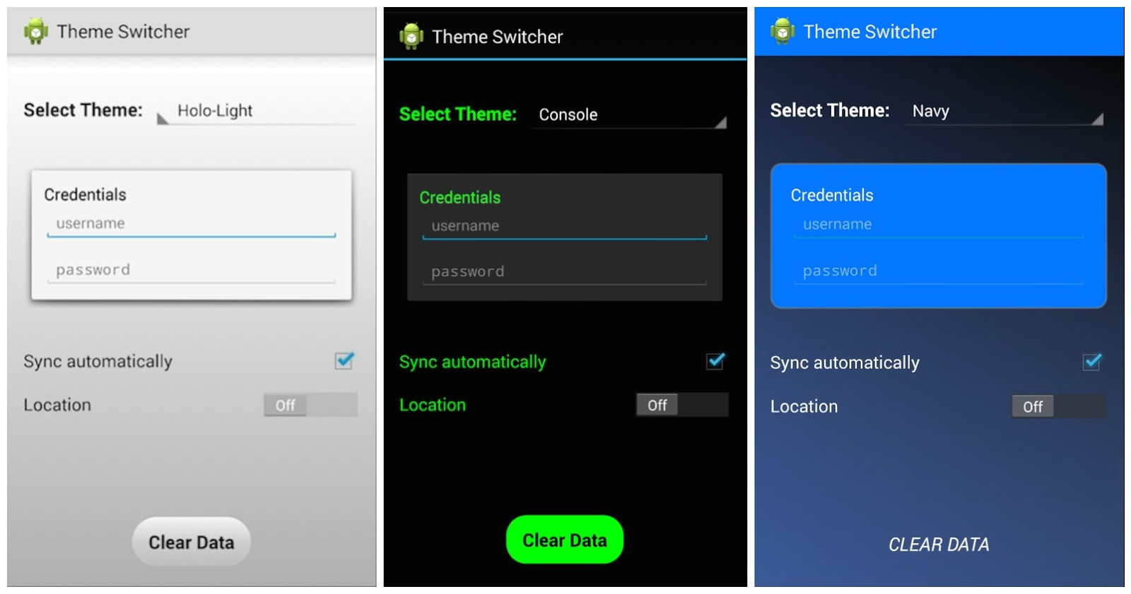 Text Themes For Androids
