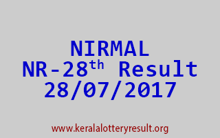 NIRMAL Lottery NR 28 Results 28-7-2017