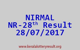 NIRMAL Lottery NR 28 Results 28-7-2017