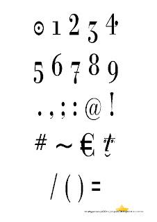 numeros y signos de puntuación