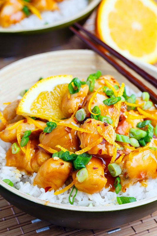20 Minute Light Orange Chicken