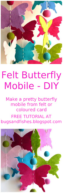 felt butterfly mobile tutorial