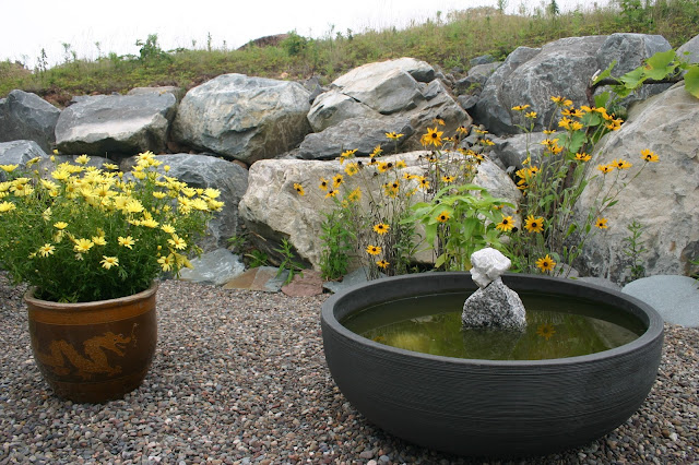 Pond Feature in garden