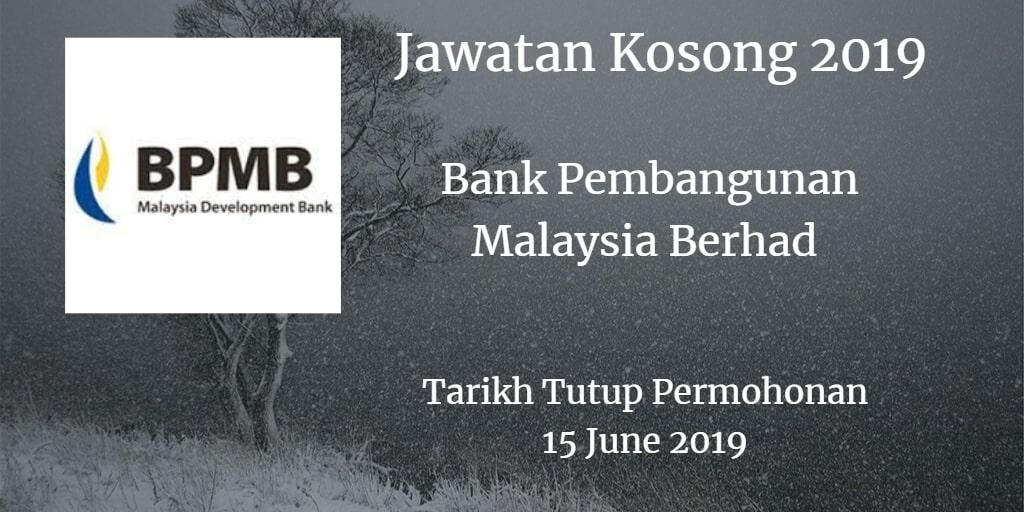 Jawatan Kosong BPMB 15 June 2019