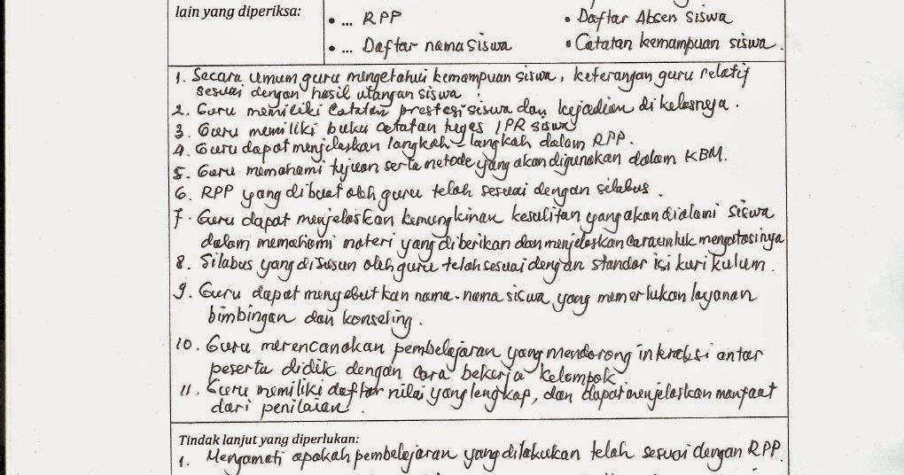SUHADAHANUM'S: Contoh Pengisian LEMBAR CATATAN FAKTA HASIL
