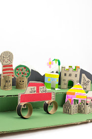 How to Host an Epic Cardboard City Building Event:  A fun Recycled Playdate idea!