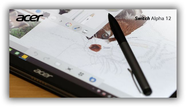 Acer Switch Alpha 12 - digital Active Pen