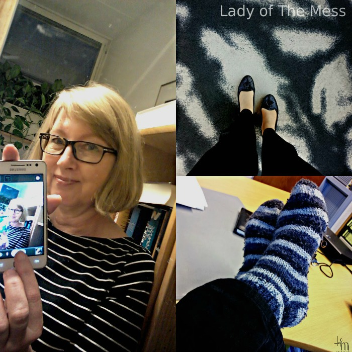 lady of the mess - first selfie - omakuva