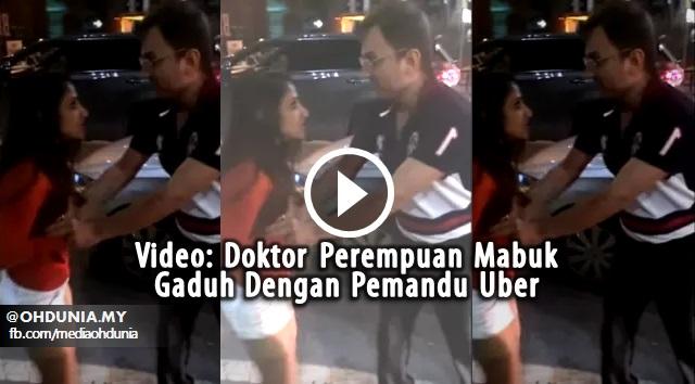Video: Doktor Perempuan Mabuk, Gaduh Dengan Pemandu Uber