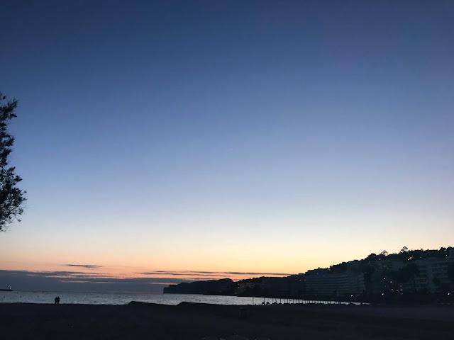 the sunset over santa ponsa bay majorca