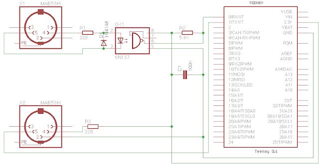 MIDI input not working