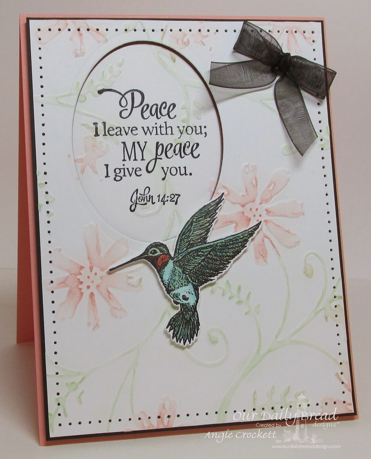 ODBD Scripture Collection 13, Hummingbird, ODBD Custom Hummingbird Die, Card Designer Angie Crockett