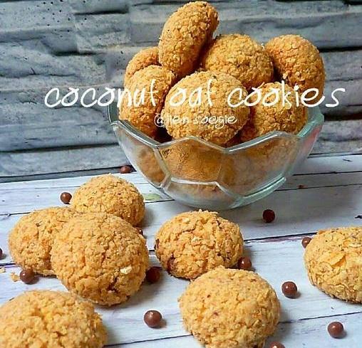 Coconut Oat Cookies, kue havernout kelapa