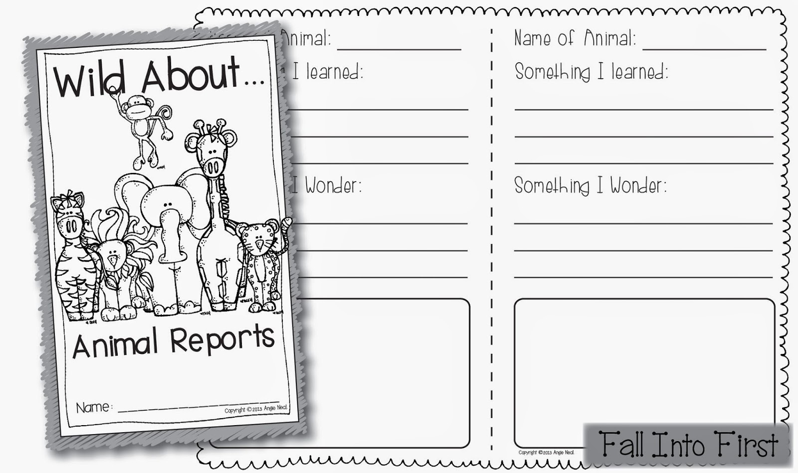 Fall Into First Zoopals Animal Reports