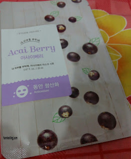 Etude House sheet mask varian Acaiberry