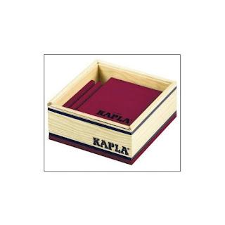 KAPLA, C40 P ,Juego de construcción, 40 piezas de madera, violeta