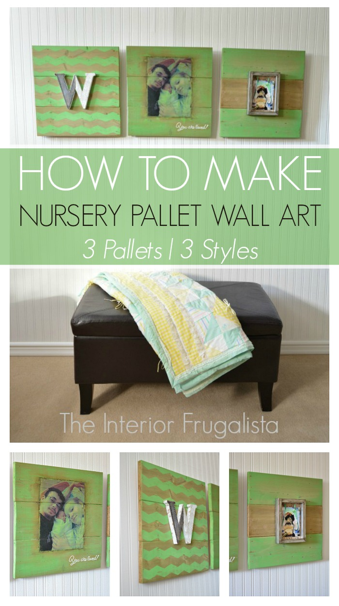Nursery Pallet Wall Art Trio