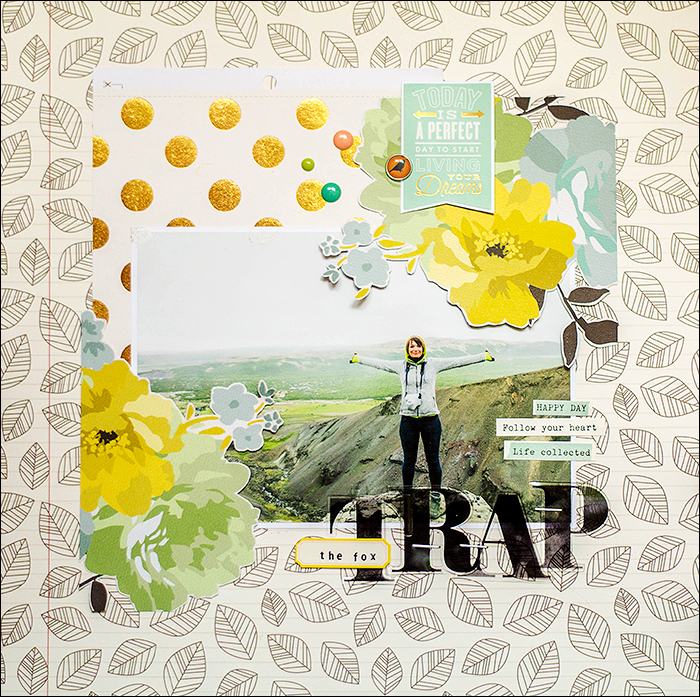 Stephanie Berger - Scrapbooking Layout - Fox Trap Iceland