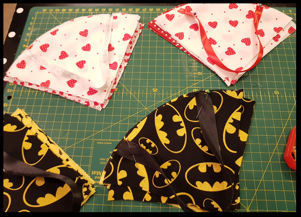 Making Batman Valentine Cones