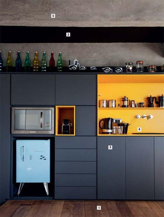 Arredamento e dintorni cucine nere con dettagli colorati - Cucine e dintorni ...