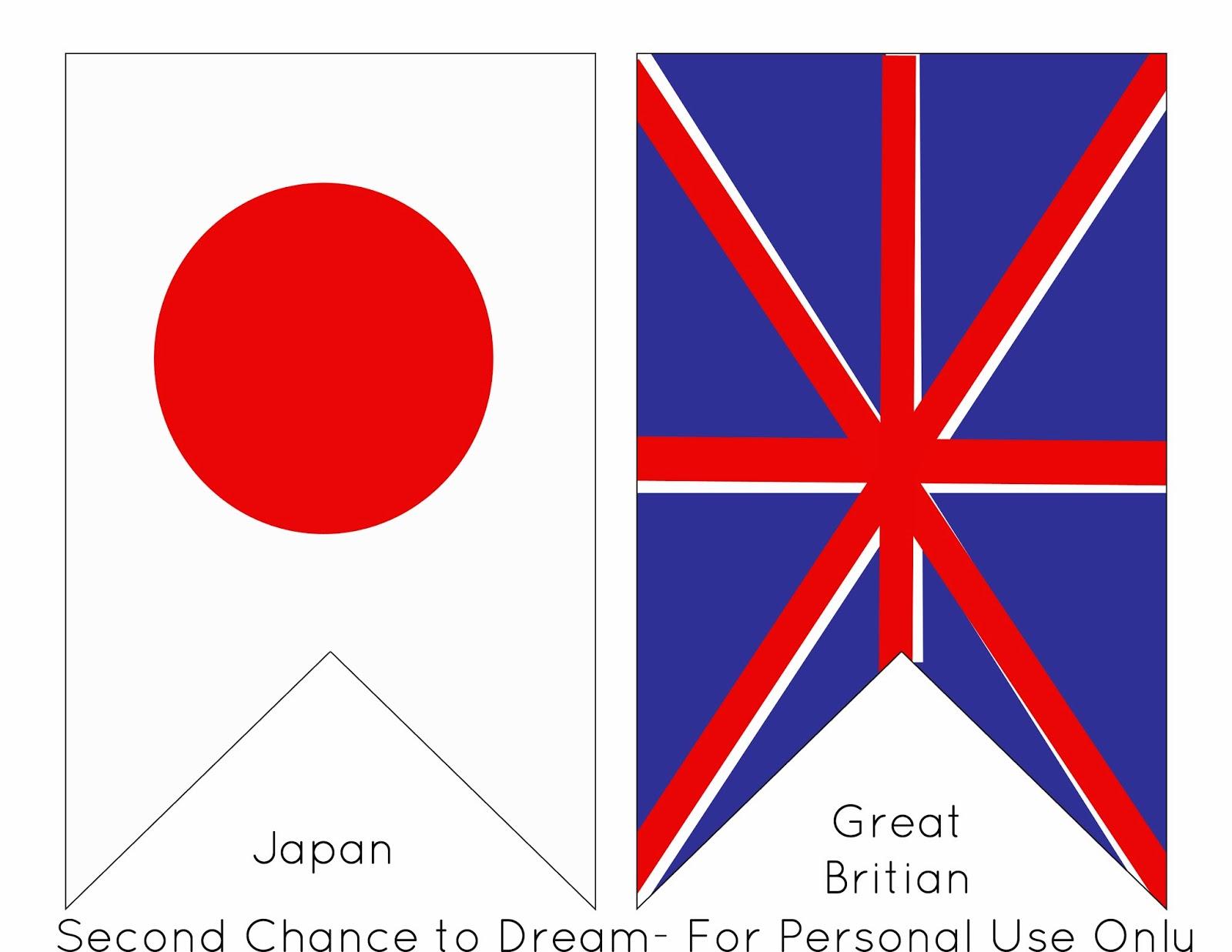 Printable Olympic Flag Banner