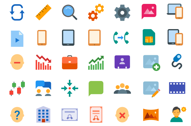Icon systems for the web