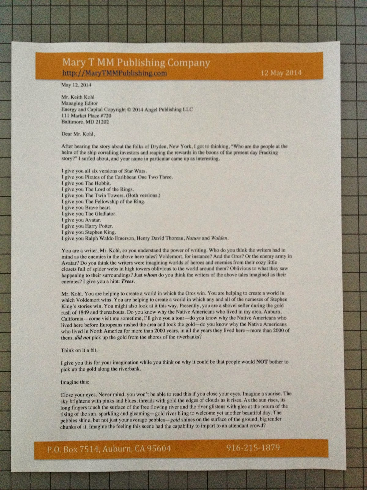 My Journey In Letters New Letter Yikes Fracking Investors In