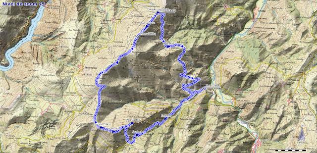 Mapa de la ruta a Peña Castillo y La Rozada desde Alvariza