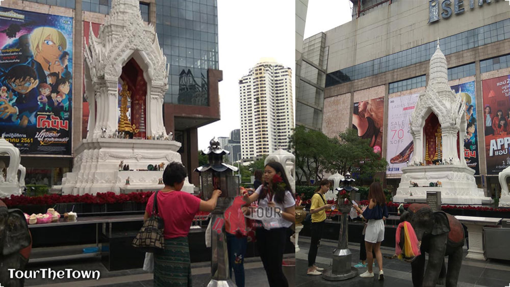 Spot Foto di Central World Bangkok : Patung Trimurti