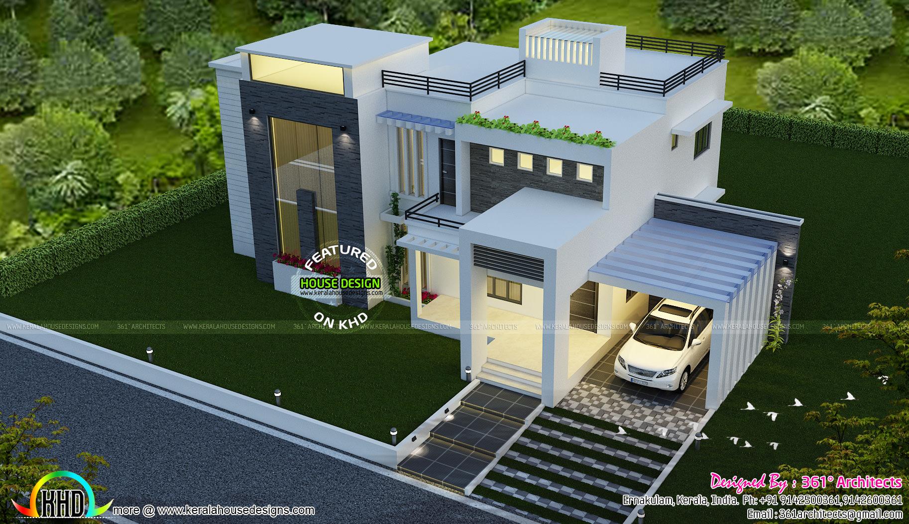 Superb contemporary home 2780 sq ft kerala home design and floor plans - Square meter garden design ideas ...