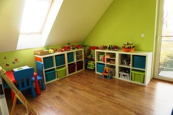 wspólny pokój dla trójki dzieci, zabawki, kallax, ikea