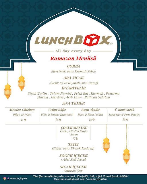 lunch box mix avm kayseri ramazan 2019 iftar menu kayseri iftar mekanları