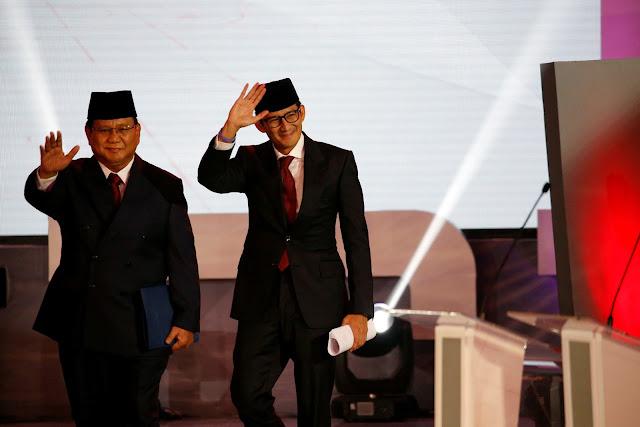 Prabowo-Sandi Bintangnya Sedang Bersinar seperti SBY 2004, 2009 dan Jokowi 2012, 2014