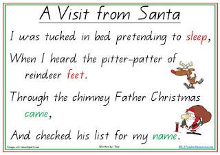 A visit from santa Rhyme
