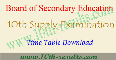 AP ssc supplementary time table 2018 , ap 10th supply date 2018