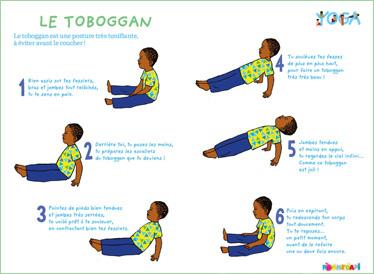 Yoga pour enfants caen la posture du toboggan for Apprendre le yoga a la maison