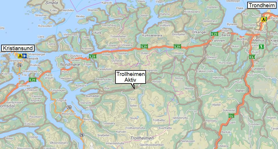 kart trollheimen Hvor er Trollheimen Aktiv. Fire kart kart trollheimen