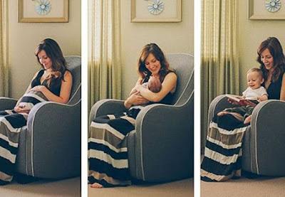 Fotos Antes x Depois na maternidade_Blog Memórias e Retalhos
