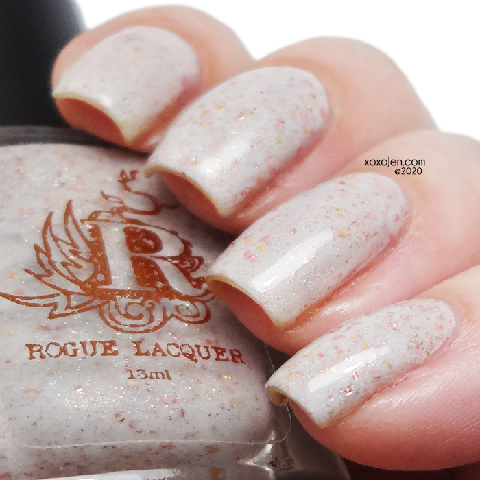 xoxoJen's swatch of Rogue lacquer  Love you through it