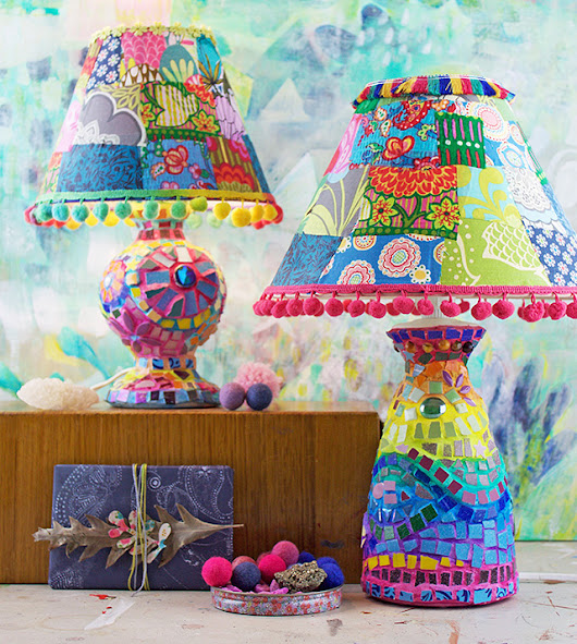 Crazy Mosaic Lamps!