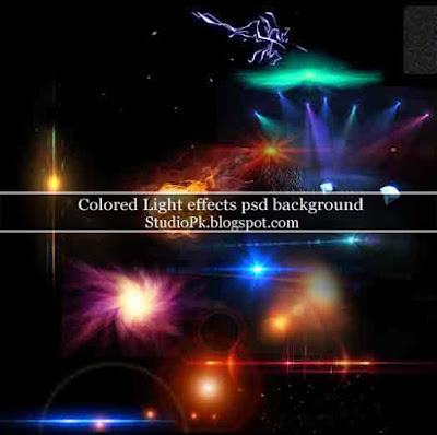 Colored Light effects psd