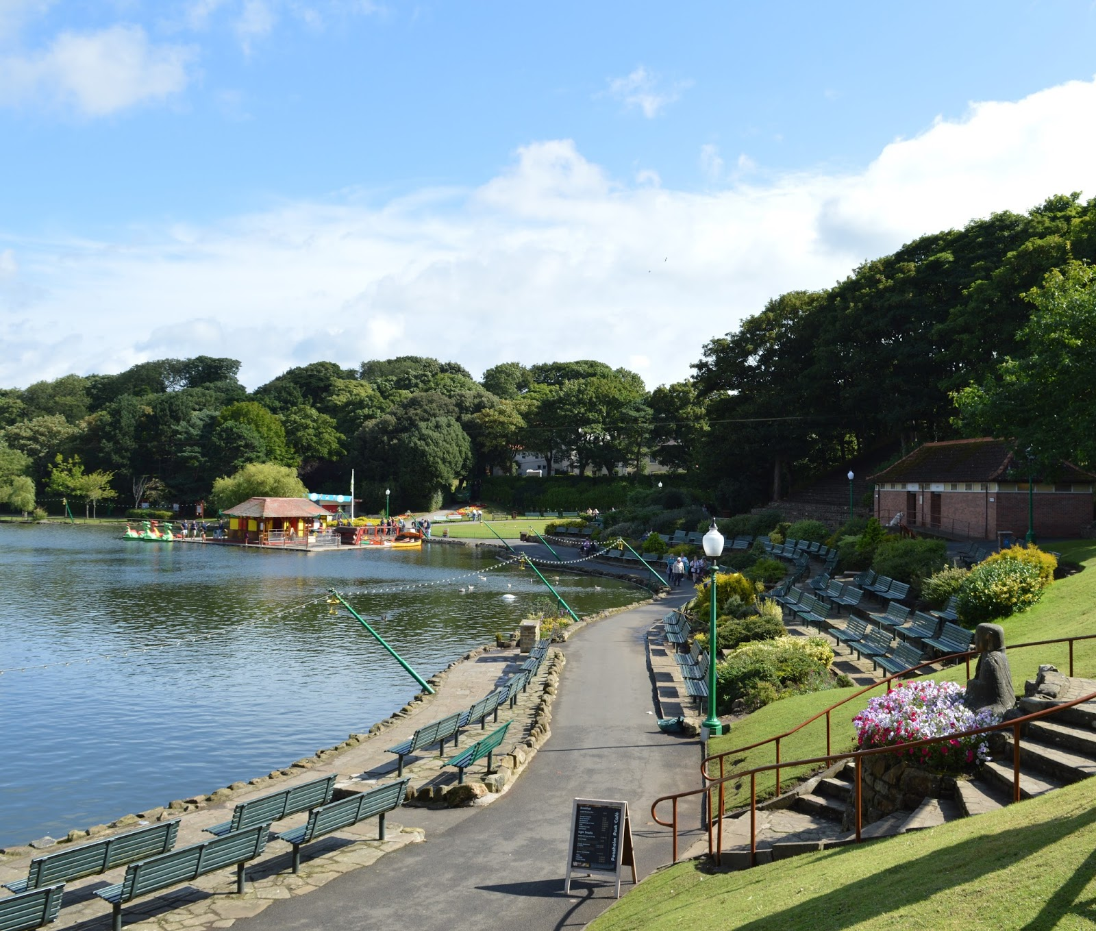 The Best Family Days Out in North Yorkshire  - Peasholm Park Lake Scarborough