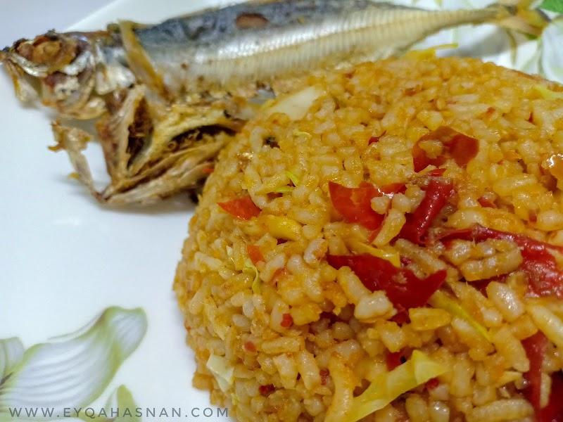 Resepi Nasi Goreng Ikan Cili Tumbuk