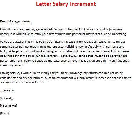 salary raise letter Template – Sample Letter of Salary Adjustment