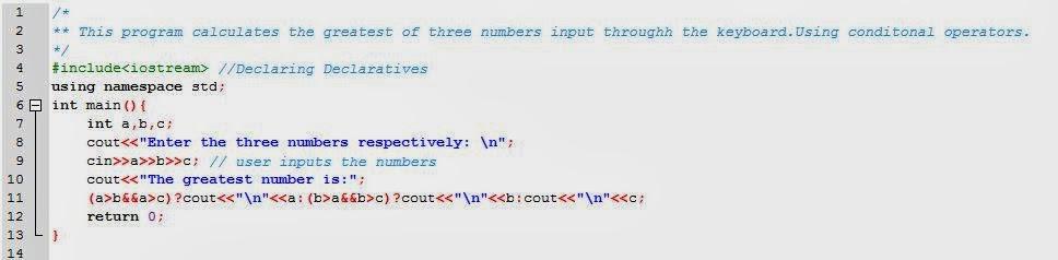greatest of n numbers