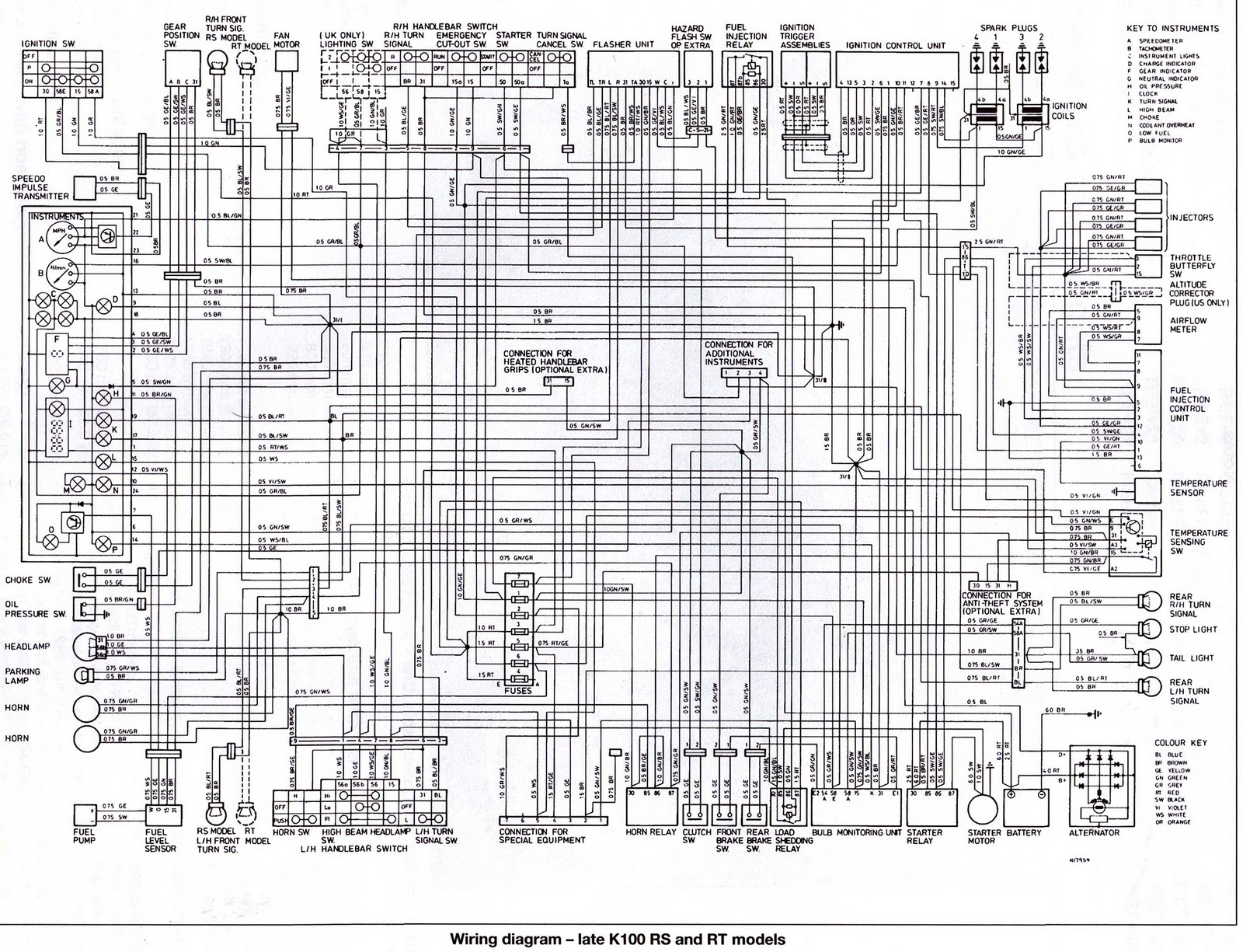 Bmw K100rs Wiring Diagram, Bmw, Free Engine Image For User