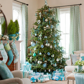 árbol de navidad turquesa